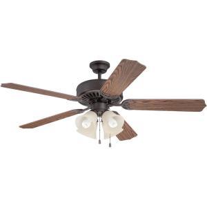 "Pro Builder 204 - 52"" Ceiling Fan with Light Kit"