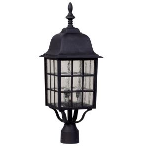Grid Cage - Three Light Outdoor Large Post Mount