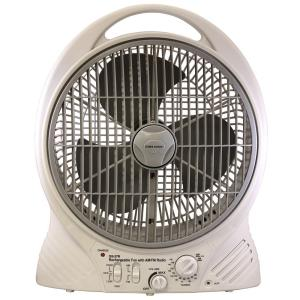 "20"" Rechargeable Cooling Fan with AM/FM Radio and MP3 Input"