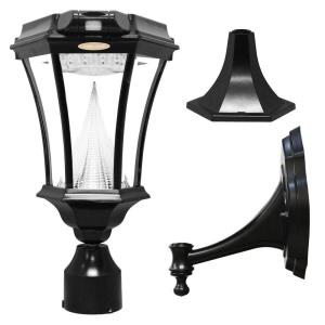 "Victorian - 18"" 9 LED Solar Light with Motion Sensor and Wall/Pier/Fitter Mount"