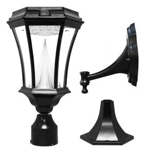 "Victorian - 15"" 21.6W 9 LED Outdoor Light Fixture with Motion Sensor (Pole/Post/Wall Mount Kit)"