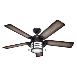 "Key Biscayne - 54"" Outdoor Ceiling Fan with Light Kit"