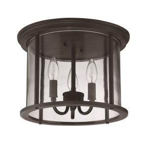 Carlton - Three Light Outdoor Flush Mount