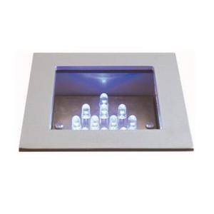 "3.50"" 0.72W 12 LED Sqaure Recessed Wall Step Light"