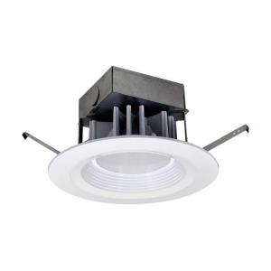 "7.25"" 12.8W 1 LED 2700K Retrofit Recessed Down Light with Junction Box"
