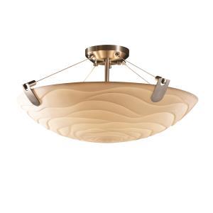 Porcelina - Six Light Semi-Flush Mount with U-Clip