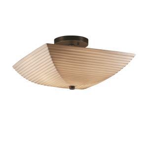 Porcelina - Two Light Square Semi-Flush Mount