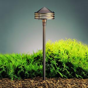Six Groove - Low Voltage One Light Path Lamp