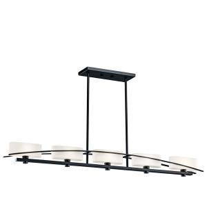 Suspension - Five Light Linear Chandelier