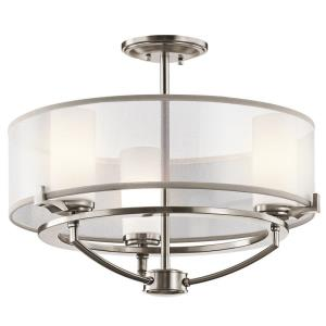Saldana - Three Light Semi-Flush Mount
