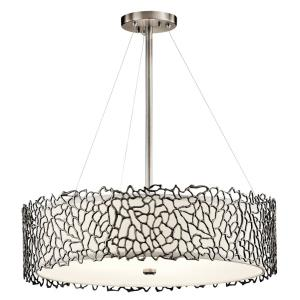 Silver Coral - Four Light Chandelier