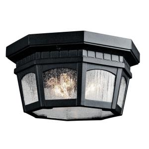 Courtyard - Three Light Outdoor Flush Mount