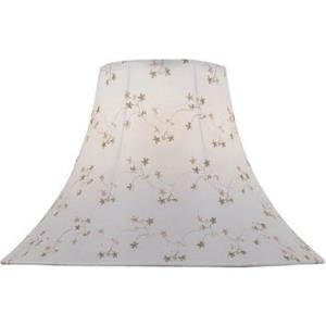White Jacquard Bell Shade Only