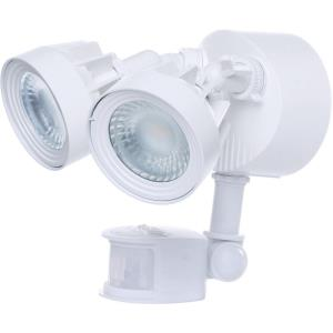 "9.25"" 24W 2 LED Outdoor Dual Head Security Light with Motion Sensor"