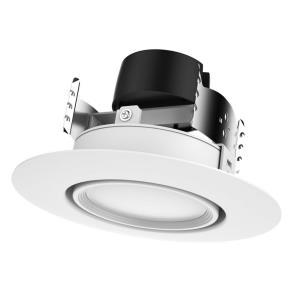 """6"""" 9W 3000K 40 Degree LED Gimbaled Directional Downlight Retrofit"""
