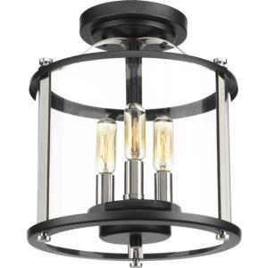 Squire - Three Light Outdoor Convertible Semi-Flush Mount
