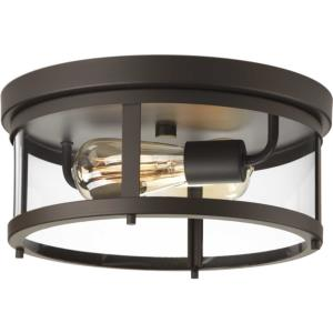 Gunther - Two Light Outdoor Flush Mount
