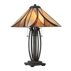 Asheville Tiffany - Two Light Table Lamp