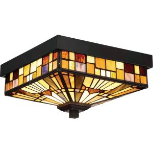 Inglenook - Two Light Outdoor Medium Flush Mount