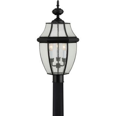 quoizel lighting ny9012 newbury three light outdoor post lantern